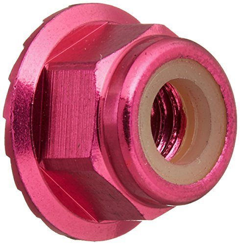 Aluminum Lock Flanged Nut (Traxxas 1747P-Anodized Aluminum Flanged & Serrated Lock Nuts (Set of 4), Pink)