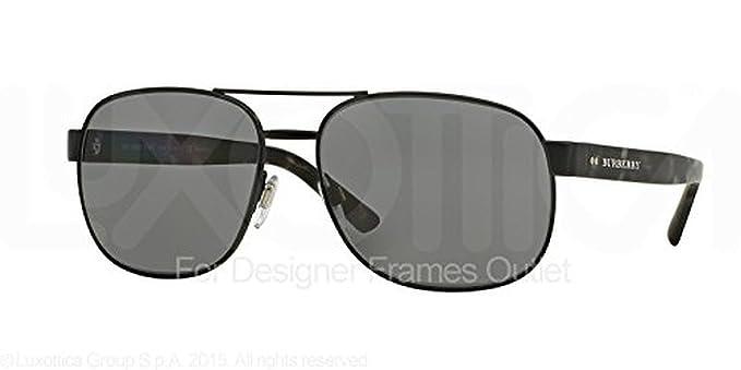 693c1687e90c Burberry Women's BE3084 Sunglasses Gunmetal / Gray Gradient 57mm & Cleaning  Kit Bundle