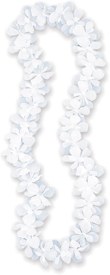 blinkee Hawaiian Flower Lei Necklace Red by