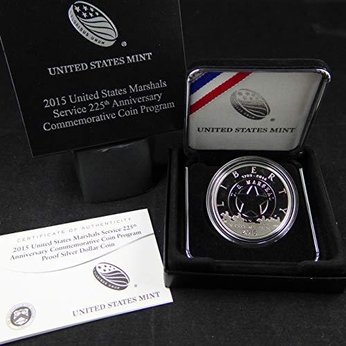 (2015 P Commemorative U S Marshals Service 225th Anniversary Silver Dollar Proof US Mint)