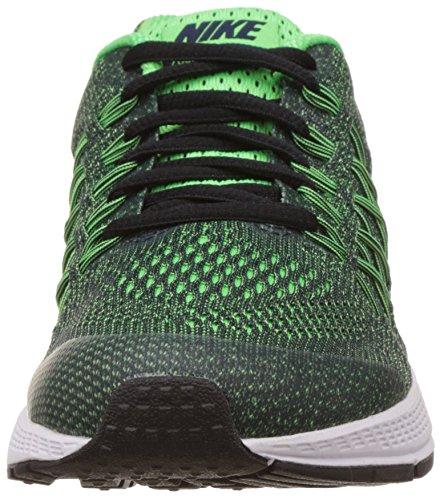 Nike Zoom Pegasus 32 (Gs), Zapatillas de Running Para Niños Negro / Plateado (Obsidian / Mtllc Silver-Vltg Grn)