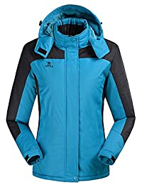 HengJia Womens Ski Jacket Snowboarding Waterproof Rain Jacket with Fleece Lining