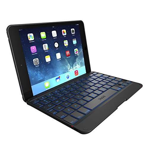 ZAGG Cover with Blacklit, Hinged Keyboard for iPad mini / iPad mini Retina - Black (Best Keyboard For Ipad Mini Retina)