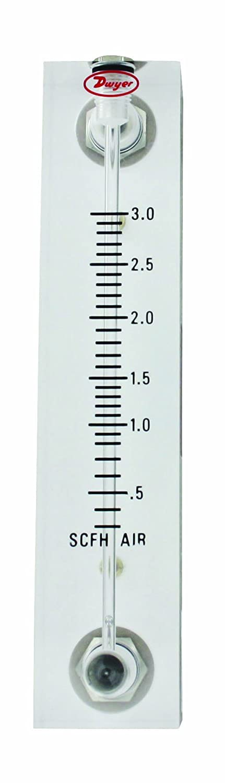 3/% FS Acc Acrylic Block .2-4 LPM air VFB-65 VFB-65 Dwyer Visi-Float Flowmeter