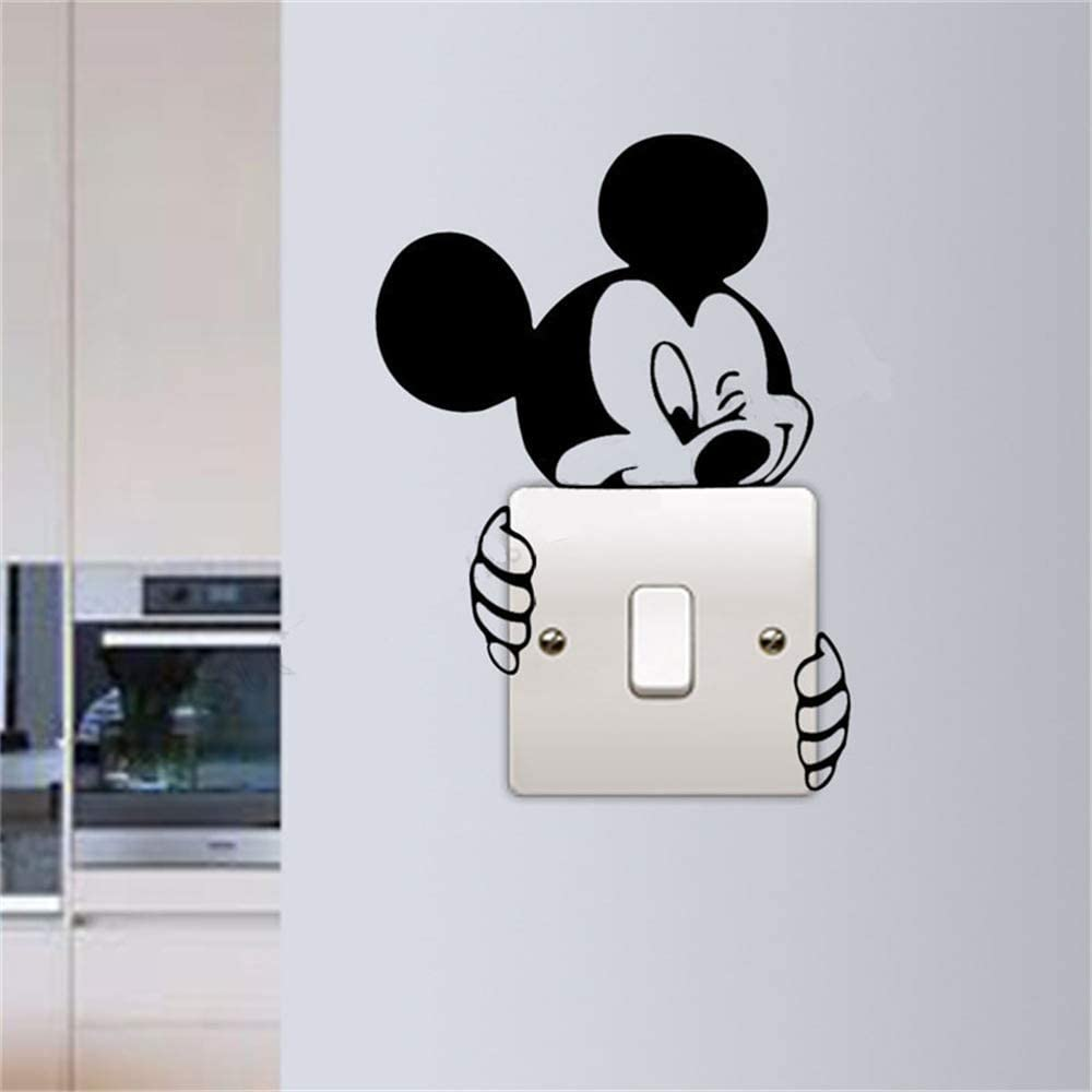 Mickey Mouse Wall Art Decal Sticker Light Switch Sticker Mickey Mouse Wall Decoration Beauty Kid Sroom Poster Mural Modern Lifestyle