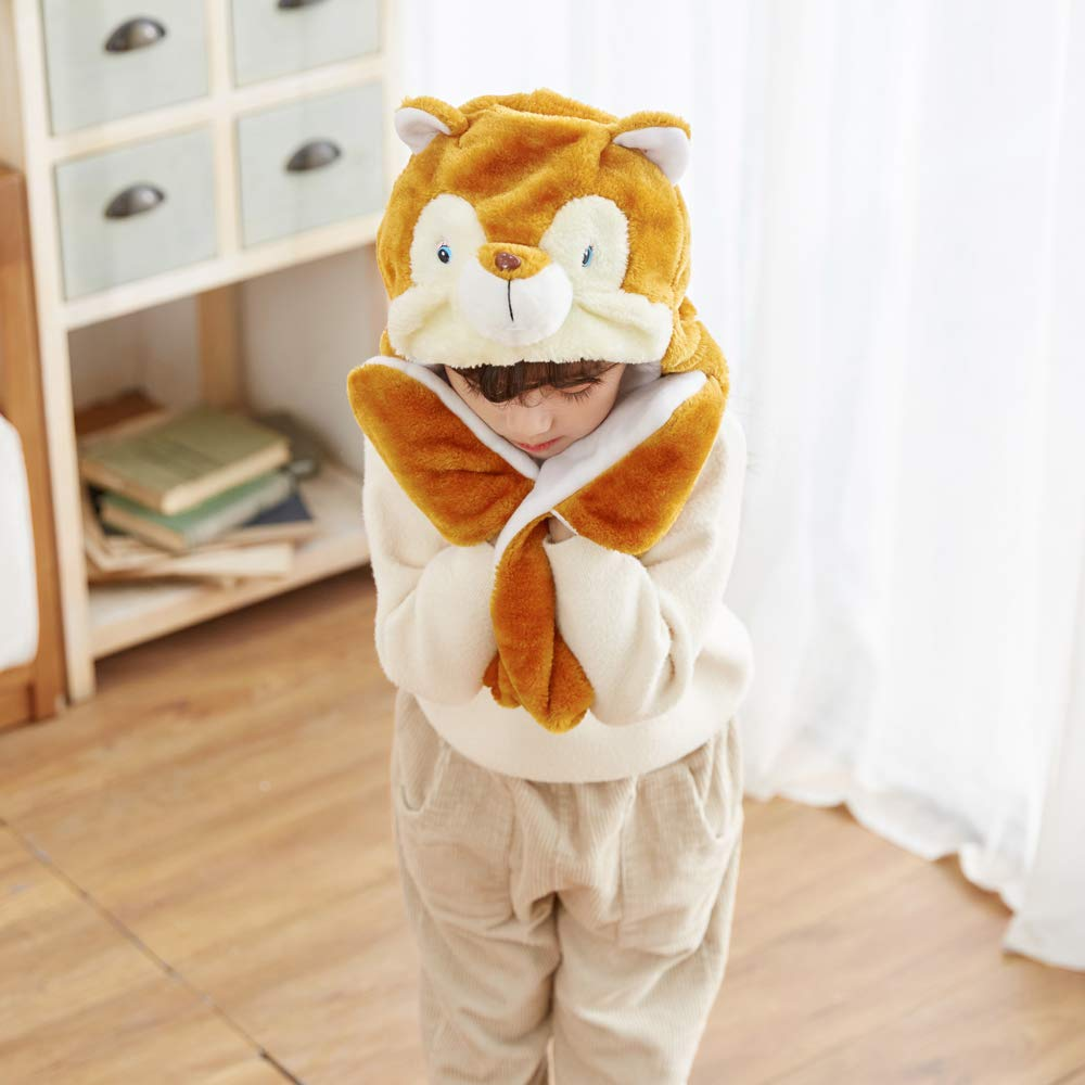 Winter Animal Hat Set Cap for 3-17yr Kids Cosplay Party Christmas Costume Toy