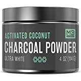 Premium Teeth Whitening Charcoal Powder 4oz - All Natural Coconut Activated Charcoal and Bentonite Clay - Highest Quality & 2x Value - Whitening