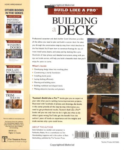Building a Deck: Expert Advice from Start to Finish (Taunton's Build Like a Pro) by Brand: Taunton Press (Image #1)