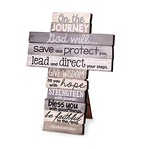 Lighthouse Christian Products Small Journey Stacked Wood Wall/Desktop Cross ()