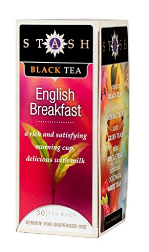 Stash English Breakfast Black Tea, 30 Count Tea Bags in Foil (Pack of 2)