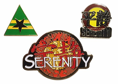 Serenity Firefly Set of 3 Movie, Firefly, Chinese Logo Enamel Metal Pin (Firefly Serenity Browncoat Costume)