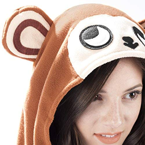 Emolly Fashion Animal Onesie for Adults Teens Brown