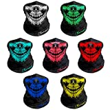 Breathable Seamless Tube Skull Face Mask, Dust-proof Windproof Motorcycle Bicycle Bike Face Mask for Cycling Hiking Camping Climbing Fishing Hunting Motorcycling (7 Pcs-Set A)