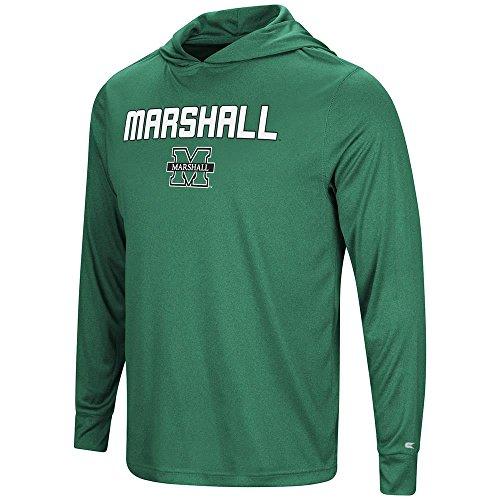 (Colosseum Mens Marshall Thundering Herd Long Sleeve Hooded Tee Shirt -)
