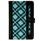 Dauphine Blue Plaid Travel Wallet Case for Dragon Touch A7 7-inch Tablet