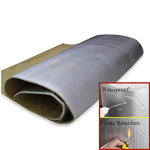 SHINEHOME 6mm 236mil Sound Deadener Deadening Heat Insulation Mat Noise Insulation and Dampening Mat Heat Proof Mat for Car Home Studio Recording Studio 61 inches x 40 inches 16.68sqft