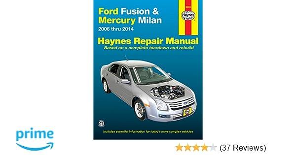 ford fusion mercury milan 2006 thru 2014 haynes repair manual rh amazon com repair manual for 2007 ford fusion ford fusion repair manual download