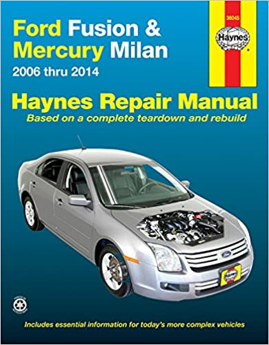 Ford Fusion Mercury Milan 2006 Thru 2014 Haynes Repair Manual