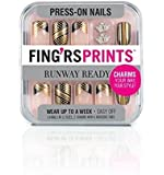 Fingrs Fing'rsprints Pre-Glued Nails, Runway Ready Walk This Way, 24 Count
