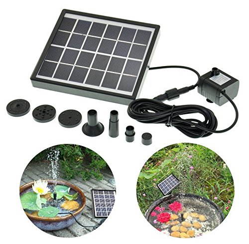 Looching 1 5w solar power water pump for fountain pool for Garden pool pumps