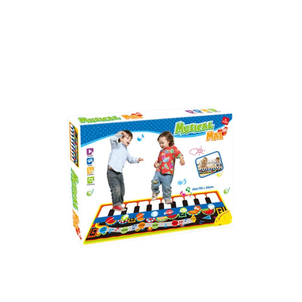 Play Keyboard Mat Electronic Musical Keyboard Playmat 43 Inches 10 Keys Foldable Floor Keyboard Piano Dancing Activity Mat Step And Play Instrument Toys For Toddlers Kids Children's Gift Different Mus by GAOCAN-gq (Image #2)