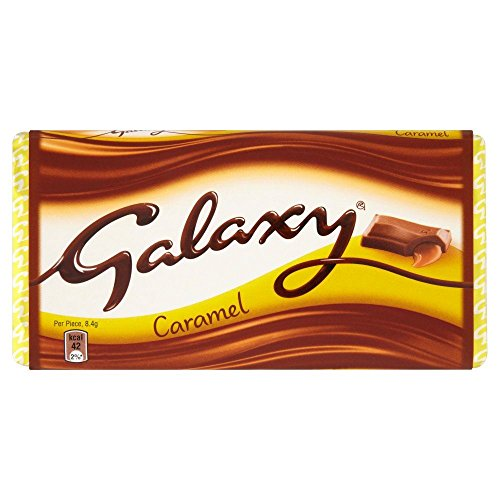 Galaxy Caramel Chocolate Block - 135g - Pack of 4 (135g x 4) ()