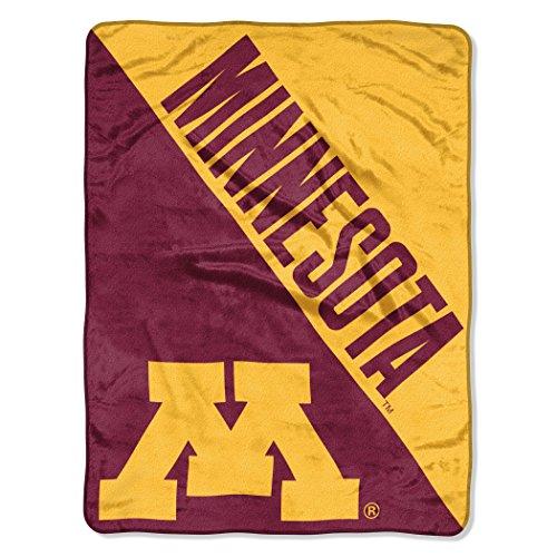The Northwest Company Officially Licensed NCAA Minnesota Golden Gophers Halftone Micro Raschel Throw Blanket, 46