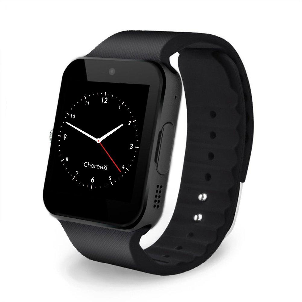 CHEREEKI Bluetooth Smart Watch Reloj Inteligente Teléfono Inteligente Pulsera con Cámara Pantalla Táctil Soporte SIM / TF Smartwatch para Android Samsung ...