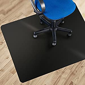 Office Marshal® Black Polycarbonate Office Chair Mat - Hard Floor Protection - No-Recycling Material - High Impact Strength