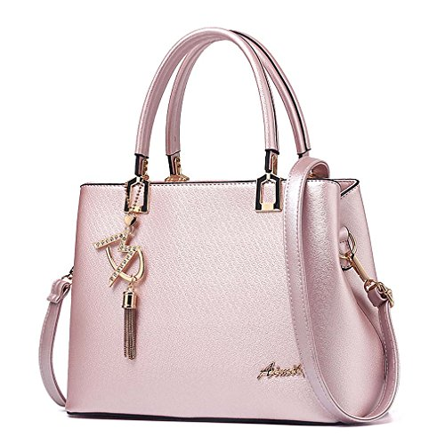 Womens Purses and Handbags Shoulder Bags Ladies Designer Top Handle Satchel Tote Bag (Light Pink)