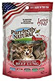 Loving Pets Beef Lung Treats for Cats, It's Purely Natural, 0.6 Ounce, 24 Pack