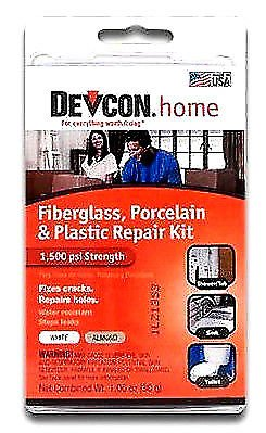 NEW Devcon Toilet and Sink Porcelain Repair Kit Fixes Cracks and Holes Stops Leaks