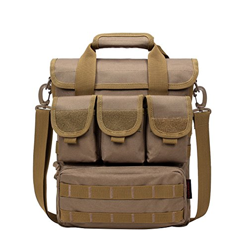 libre Casual Yeshi Crossbody hombro táctico camuflaje marrón Bolsa negro Senderismo al de Escalada aire para Camping militar portátil Hgg5qSIx