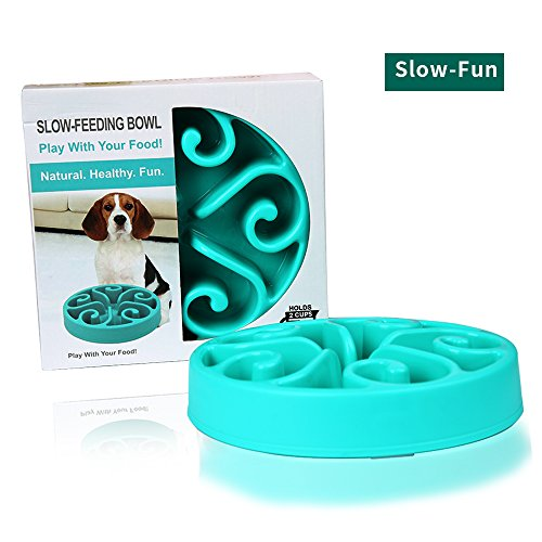 HWDID Pet Fun Feeder Dog Bowl – Slow Interactive Puzzle Dog Bowl – Bloat Stop Bowl for Dogs & Cats,Non-Skid For Sale