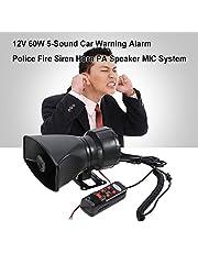 روليكساكي 1# 12 فولت 60 واط 5 صوت إنذار سيارة شرطة النار صفارة الإنذار القرن الصاخب PA مكبر صوت نظام ميكروفون