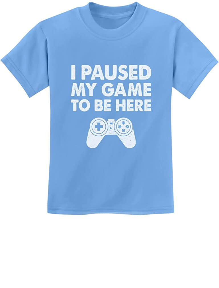 Tstars I Paused My Game to Be Here Funny Gift for Gamer Youth Kids T-Shirt GZrrPMPgm