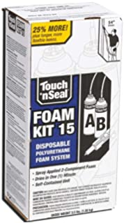 Touch n seal high density spray foam roof insulation kit 30 pcf touch n seal 4004520015 u2 15 spray closed cell diy foam insulation kit 15 bf solutioingenieria Choice Image