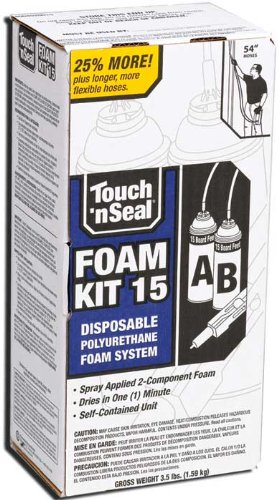 Touch N Seal 4004520015 U2-15 Spray Closed Cell DIY Foam Insulation Kit 15 BF ()