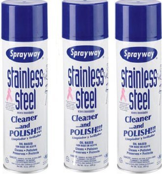 USA Wholesaler- 25191667-Sprayway Stainless Steel Cleaner 3/15oz Cans