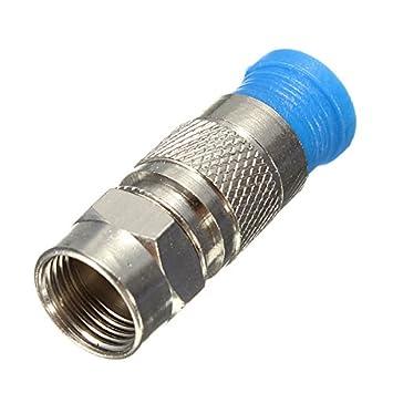 farwind 5 pcs impermeable RG6 Cable Coaxial de compresión F Conector Coaxial Adaptador de montaje