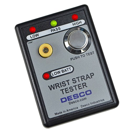 Desco 19240 Pass/Fail Wrist Strap Tester, 9 VDC