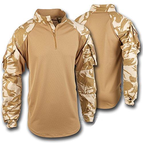 British Military Under Body Armour Combat Shirt - DESERT CAMO (Large)