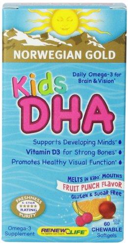 Renew Life NG enfants DHA Gels, 60 comte