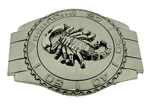 Scorpion Belt Buckle Western Metal Cowboy Cowgirl New Men Women Fashion Girly (Watch Style Plate Size 5.00