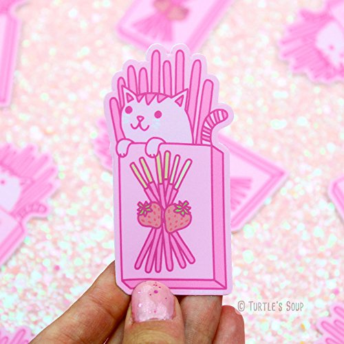 Kawaii Stickers, Strawberry Pocky, Pink Cats, Japanese Candy