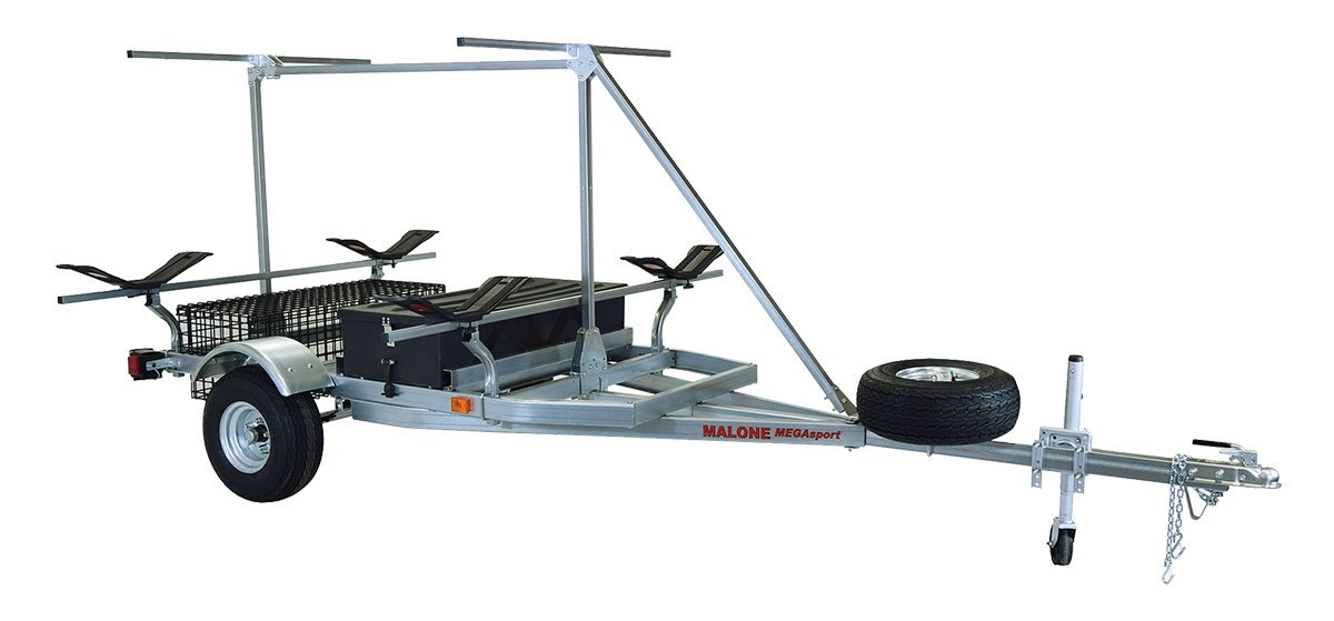 Malone Auto Racks 2 boat trailer package w/storage & 2nd Tier - MegaWing by Malone