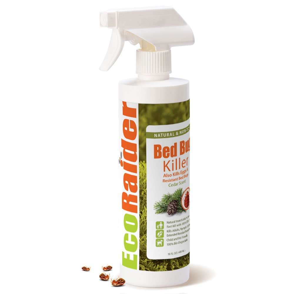 Bed Bug Killer by EcoRaider Fast and Sure Kill with Extended Residual Protection, Natural & Non-toxic, Child & Pet Friendly Review