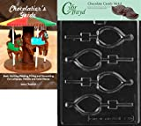 """Cybrtrayd """"Wishbone"""" Thanksgiving Chocolate Candy Mold with Chocolatier's Guide"""