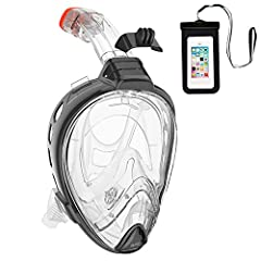 Easy Breathing System with Dry Snorkel       Separate sections for eyes & mouth, and a self-closing dry snorkel that keeps water out, allows you to breathe naturally through mouth & nose - without fogging! The purge allows you ...