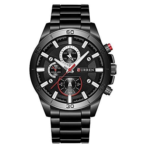 CURREN Original Men's Sports Waterproof Stainless Steel Quartz Wrist Watch 8275